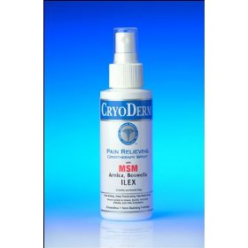 Cryoderm pain relieving analgesic cryotherapy spray--4oz. professional strength