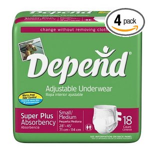 Depend refastenable protective pant