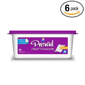 Prevail premium washcloth, large, 96 washcloths (pack of 6)