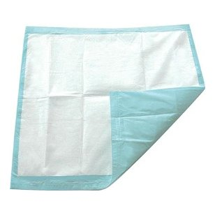 Disposable blue underpad chux