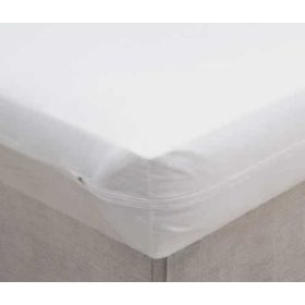 Vinyl mattress protector 6 gauge - zippered (9' depth) twin size
