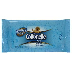 Cottonelle fresh flushable wipes, travel packs, case of 12/10s (120 ct)