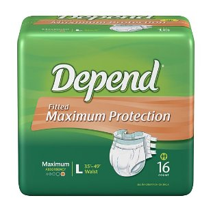 Depend fitted protective briefs, maximum protection