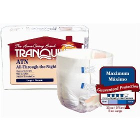 Tranquility atn (all-through-the-night) fitted briefs size large pk/12