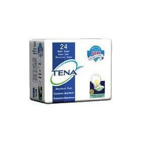 Tena night-super pads (green), case/48 (2 bags of 24)