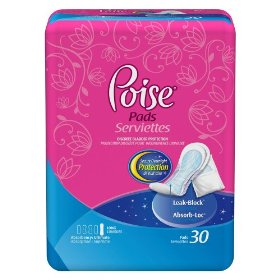 Poise extra coverage pads