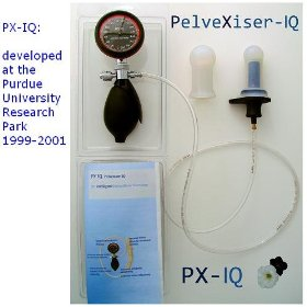 Px-iq (formerly pelvexiser-iq); pelvic floor exerciser with biofeedback and interchangeable sensors