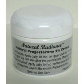 Progesterone (bioidentical) 2 % creme 2 oz. jar - unscented & paraben-free