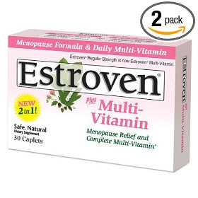 Estroven plus multi- vitamin caplets for menopause, 30-count boxes (pack of 2)