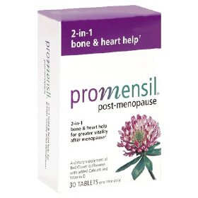Promensil post-menopause supplement tablets, 30-count box