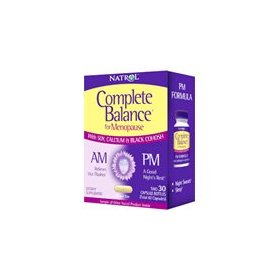Natrol complete balance, am & pm for menopause, two comprehensive formulas 1 set