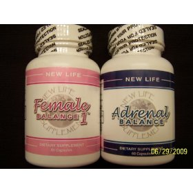 Adrenal balance (1btl) & female balance 1 (1 btl) for pms & menopause