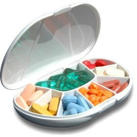 Multi-day vitacarry 8 compartment pill box holds up to 60 pills