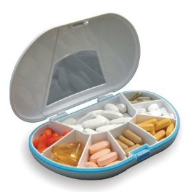 Gasketed vitacarry 8 compartment pill box holds up to 150 pills waterproof