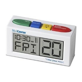 Medcenter talking alarm clock & medication reminder