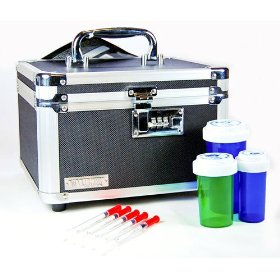 Medication lock box with combination (internal dimensions: 5.75