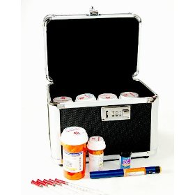 Combination locking medication safe box (internal dimensions: 6.75 inches h x 9.125 inches w x 6.00 inches d)