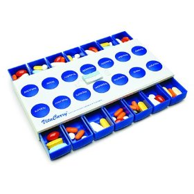 Push button 14 day pill organizer