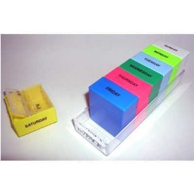 7 day 2 large compartments rainbow pill organizer