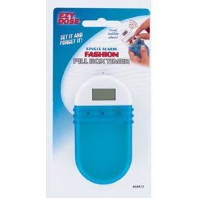 Fashion pill box with single alarm timer