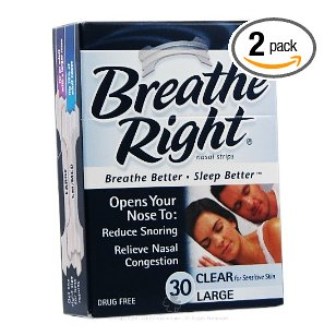 Breathe right nasal strips, large, 30-count boxes
