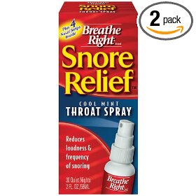 Breathe right snore relief throat spray, 2-ounce bottles (pack of 2)