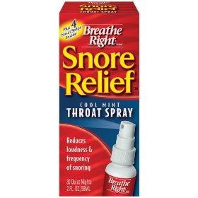 Breathe right snore relief throat spray 2 fl oz (59 ml)