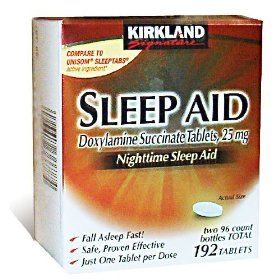 Kirkland signature sleep aid doxylamine succinate 25 mg x, 192-count