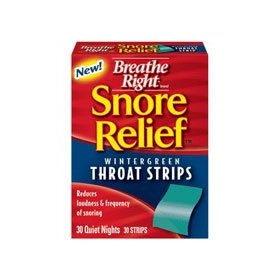Breathe right snore relief throat strips, wintergreen 30 ea