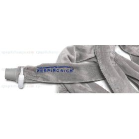 Silver fleece cpap tubing wrap hose cover from respironics