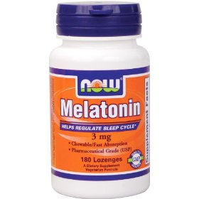 Now foods melatonin 3mg chewable, 180-lozenges