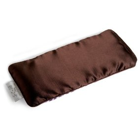 Spa comforts eye pillow, two-tone lavender/chocolate brown