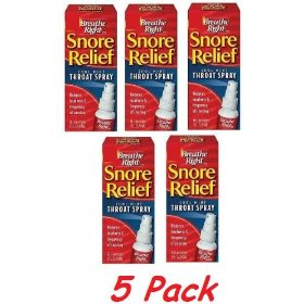 Breathe right snore relief throat spray 2 fl oz (59 ml) (5 pack special)