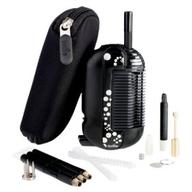 Iolite iev-ap-002 portable black vaporizer with 3 pack extended mouthpiece and an optimizer (bonus pack)