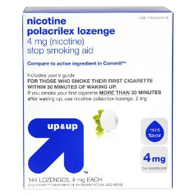Up & up™ mint flavor 4-mg. nicotine lozenges - 144 ct.