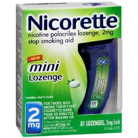 Nicorette 2mg stop smoking aid - 81 lozenges