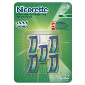 Nicorette mini lozenges 4 mg - 5 vials, 27 lozenges each - 135 mint flavored lozenges