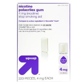 Up & up™ original flavor 4-mg. nicotine gum - 220 ct.