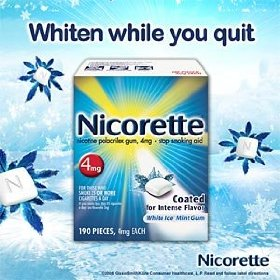 Nicorette gum white ice mint 4 mg - 190 count