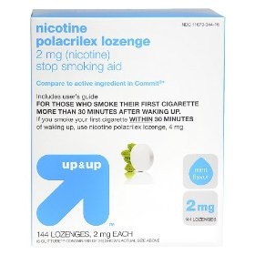 Up & up™ mint flavored 2-mg. nicotine lozenges - 144 ct.