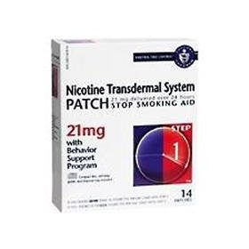 Novartis nicotine transdermal system stop smoking aid patch, step 1, 21 mg - 14 ea