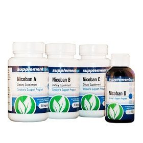 Nicoban herbal stop smoking kit - kick the habit for good in 7 days - guaranteed to work or your money-back - complete kit contains - 3 bottles (164 capsules) plus 2 fl oz liquid