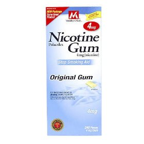 Member's mark nicotine gum polacrilex 4mg, stop smoking aid, original flavor pieces, 240-count