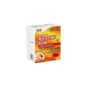 Cvs nicotine gum 2 mg fruit coated -sugar free -40 pieces