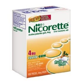 Nicorette nicotine gum fruit chill 4 mg - 190 pieces