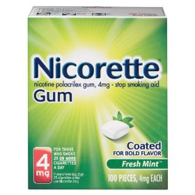 Nicorette gum 100-pk. - fresh mint (4 mg)
