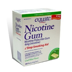 Equate nicotine gum polacrilex  4 mg mint flavor, 100-piece box