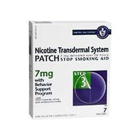 Novartis nicotine transdermal system stop smoking aid patch, step 3, 7 mg - 7 ea