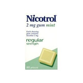 Nicotine gum 2 mg. mint 6 boxes 630 pieces