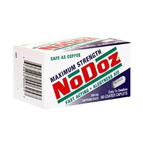 Nodoz alertness aid caffeine caplets, maximum strength, 200 mg, 60-count bottles (pack of 3)